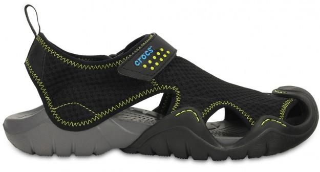 Black Men's Swiftwater Sandal by Crocs