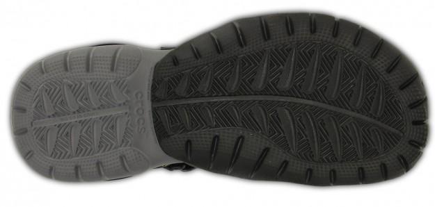 Black Men's Swiftwater Sandal by Crocs, Sole