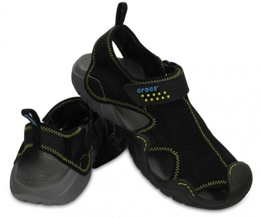 Comfortable Black Men's Swiftwater Sandal by Crocs