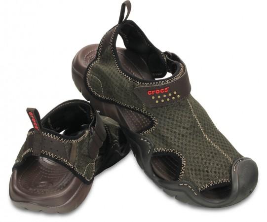 Comfortable Espresso Men's Swiftwater Sandal by Crocs