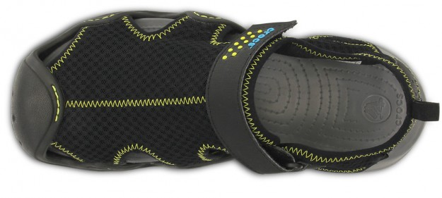 Crocs, Black Men's Swiftwater Sandal