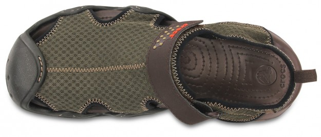 Crocs, Espresso Men's Swiftwater Sandal