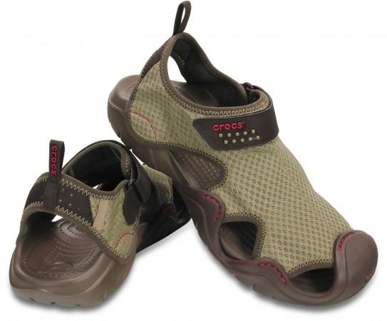 Khaki Men's Swiftwater Sandal by Crocs
