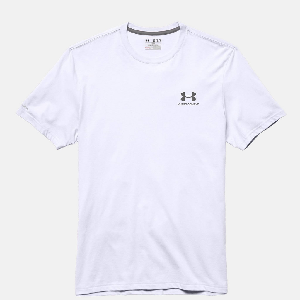 Men's Short Sleeve White Tshirt by Under Armour