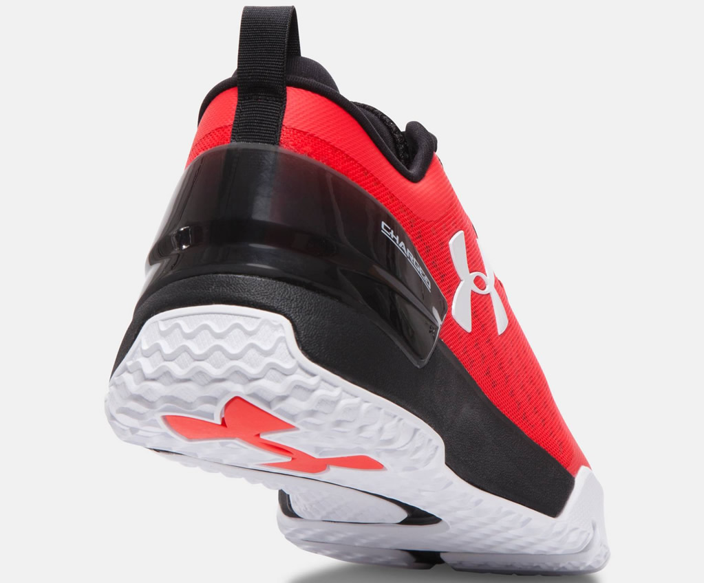 UA Men's Red Training Shoe, Heel