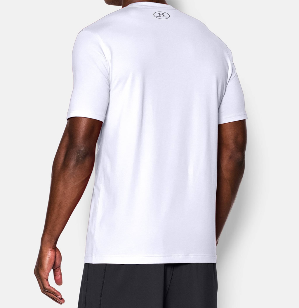 UA Men's Short Sleeve White Tshirt