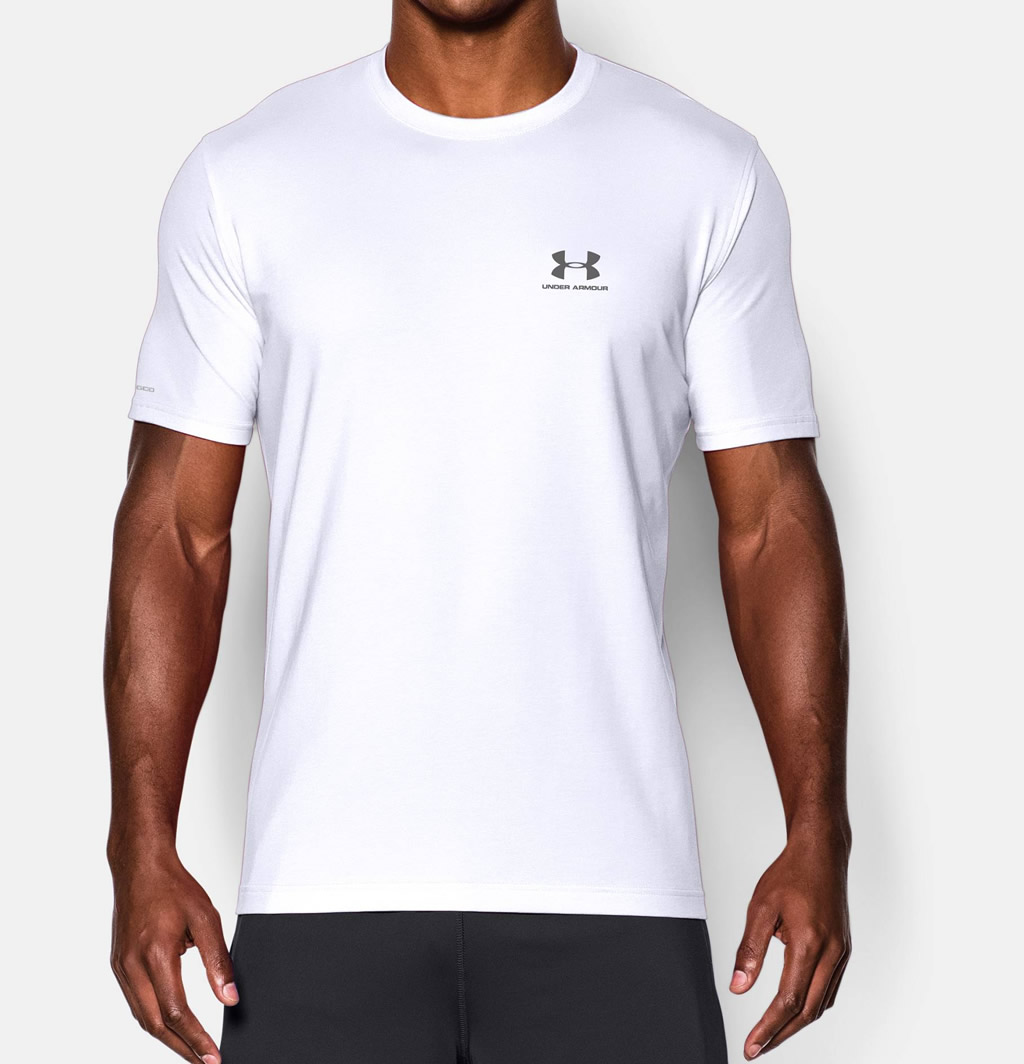 Under Armour Men's Short Sleeve White Tshirt