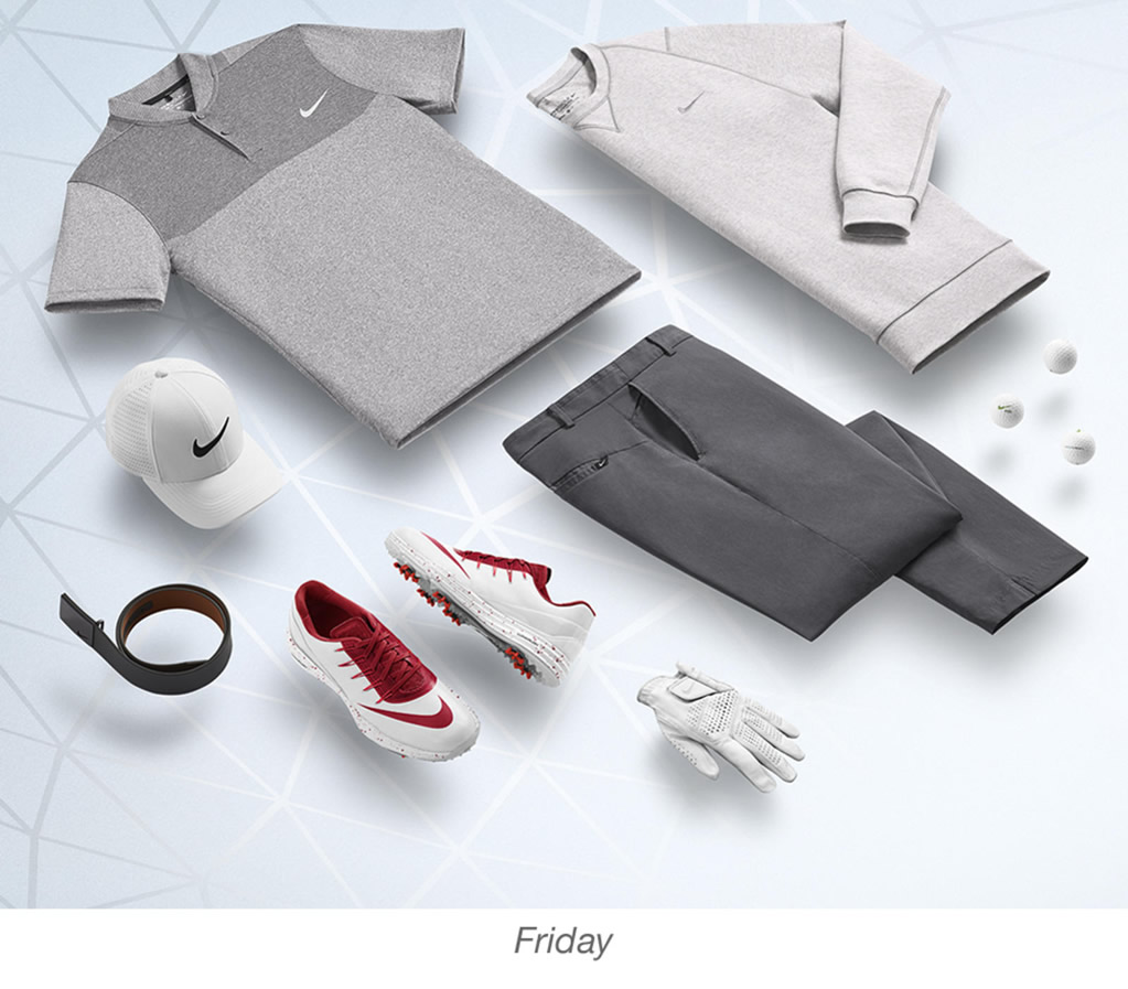 Nike men's golf outfits, Rory McIlroy