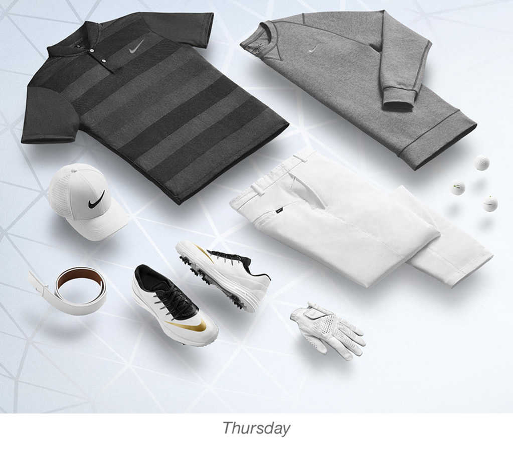 Rory McIlroy, Nike men's golf outfits