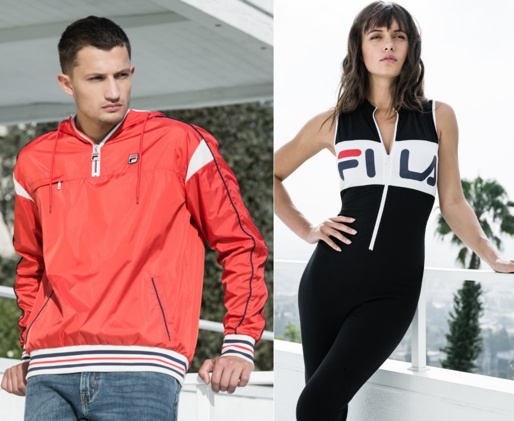 Women's and Men's Heritage Apparel Collection by FILA