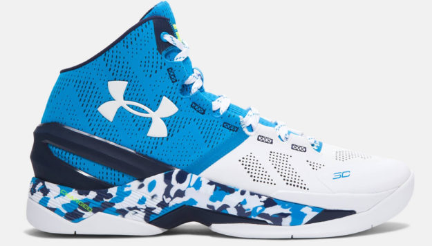 Blue Under Armour Curry Two Men's Basketball Shoe