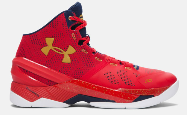 Red Under Armour Curry Two Men's Basketball Shoe