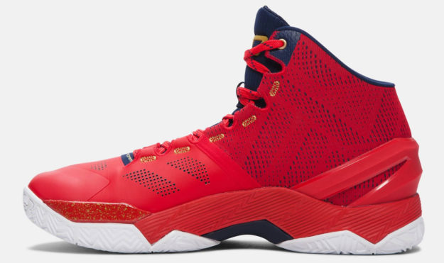 Red Under Armour Men's Basketball Shoe