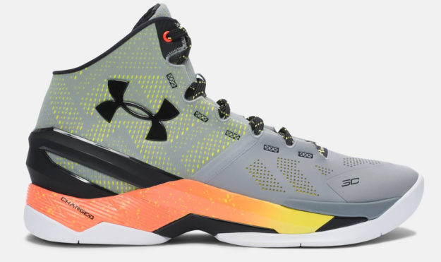Steel Under Armour Curry Two Men's Basketball Shoe