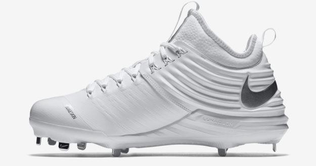 White Men's Baseball Cleats by Nike