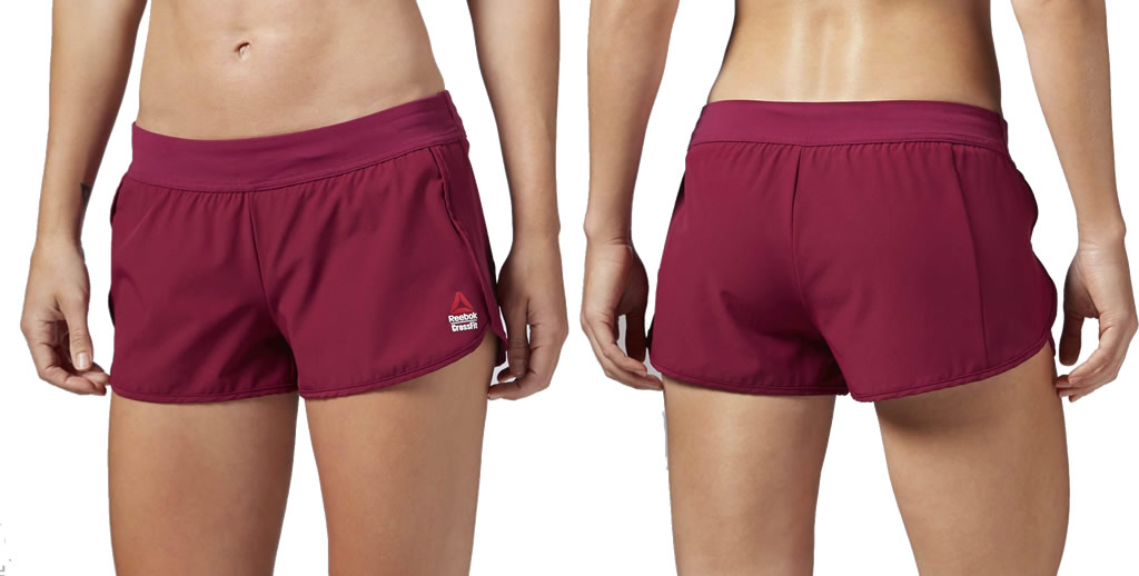 Pink Reebok women's crossfit shorts