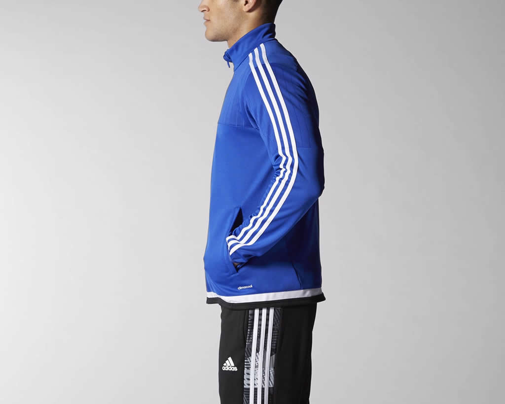 Tiro 15 men's soccer jacket by Adidas, Side