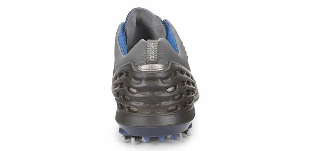Blue Men's Cage EVO Golf Shoe by Ecco, Heel Tab
