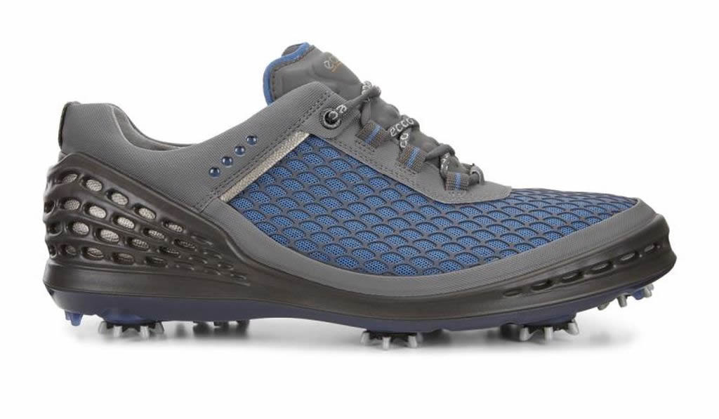 Blue Men's Cage EVO Golf Shoe by Ecco, Side