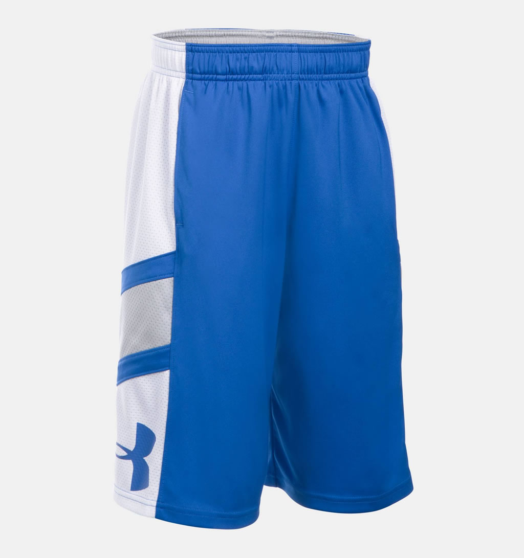 Blue Step Back Boys' Basketball Shorts by Under Armour