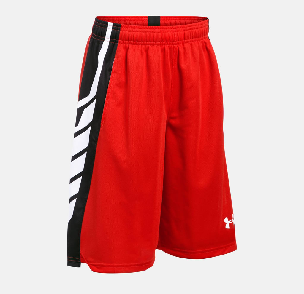 Red Select Boys' Basketball Shorts by Under Armour