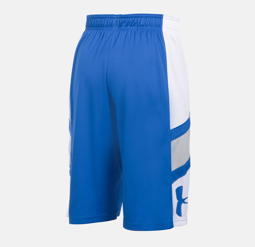UA Blue Step Back Boys' Basketball Shorts, Back