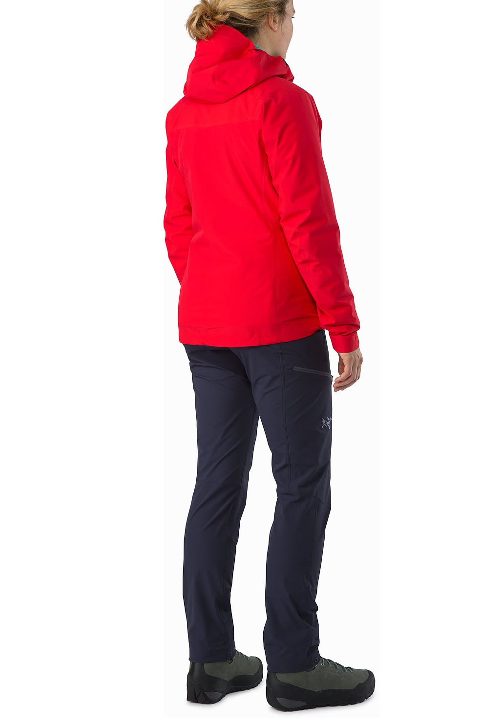 Red Women's Beta SL Hybrid Jacket by Arc'teryx, Back