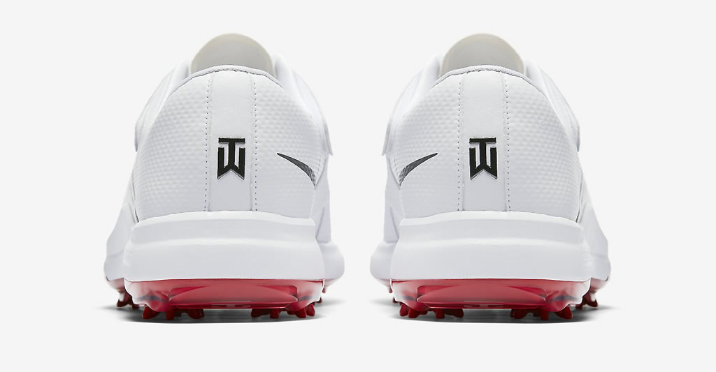 White Air Zoom TW' 17 men's golf shoes by Nike, Heel Tab