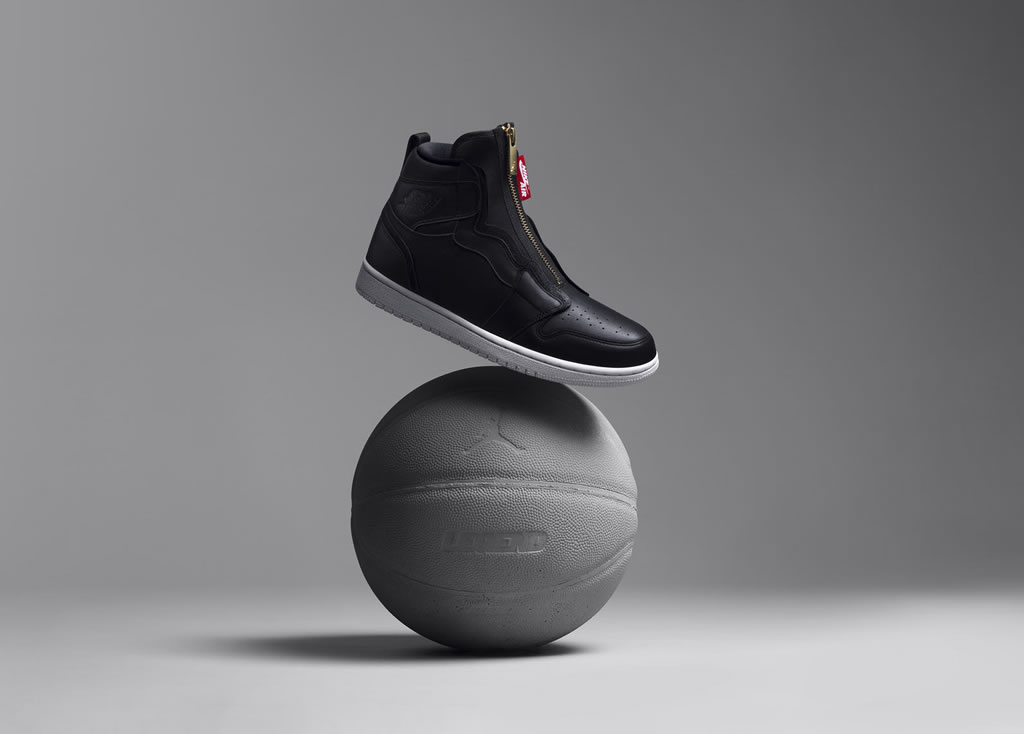 Women's Air Jordan I Hi Zip Black Kicks