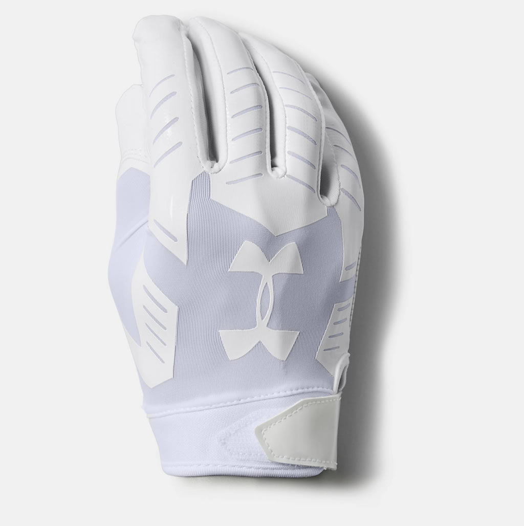 White F6 Men's Football Glove by UA